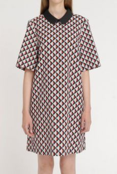 SS14 HARD LIGHT LATTICE UNIFORM DRESS