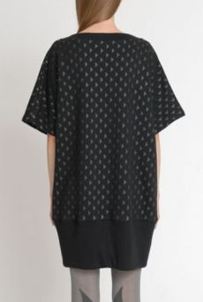 SS14 TIP OF THE ICEBERG PEARL RIB HEM TUNIC - Other Image