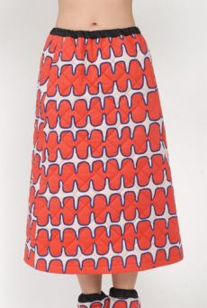 AW15 FISHBONE BORDERS QUILTED SKIRT