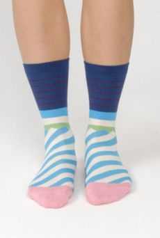AW15 ZIG ZAG STRIPE SHORT SOCKS