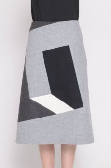 AW16 SQUARE CIRCUIT SKIRT