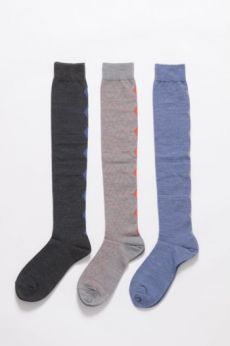 AW16 SQUARE CIRCUIT LONG SOCKS