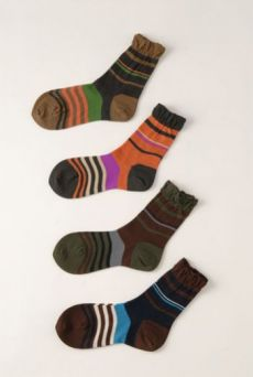 AW1213 STRIPE ANKLE SOCKS - VARIOUS
