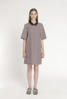 SS14 HARD LIGHT LATTICE UNIFORM DRESS - Other Image