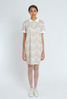 SS11 TEARDROP VEIL STRIPE TIGHTS - Other Image