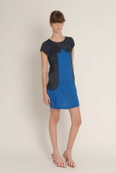 SS13 VISCOSE TWILL SUNFLOWER DRESS - Other Image