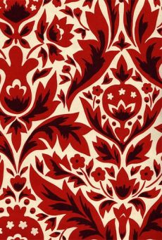 DAMASK WALLPAPER - RED