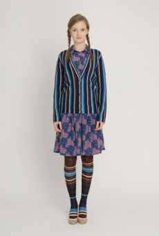 AW1213 STRIPE OVER KNEE SOCKS - VARIOUS - Other Image