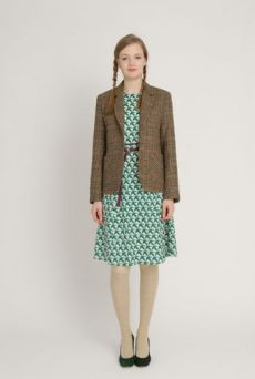 AW1213 THOUSAND PHEASANTS BELTED DRESS - DAMSON - Other Image
