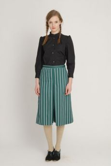 AW1213 BUTCHER'S STRIPE MODESTY CULLOTTES - NAVY - Other Image