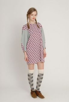 AW1213 CHECK OVER KNEE SOCKS - VARIOUS - Other Image